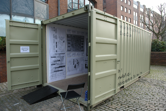 Installation of the off-site 'Container Studio' - image - Eamon O'Kane